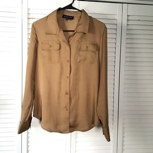 Jones New York Gold Button Down Blouse